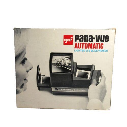 Vintage GAF Pana-Vue Automatic Lighted 2x2 Slide Viewer w/box