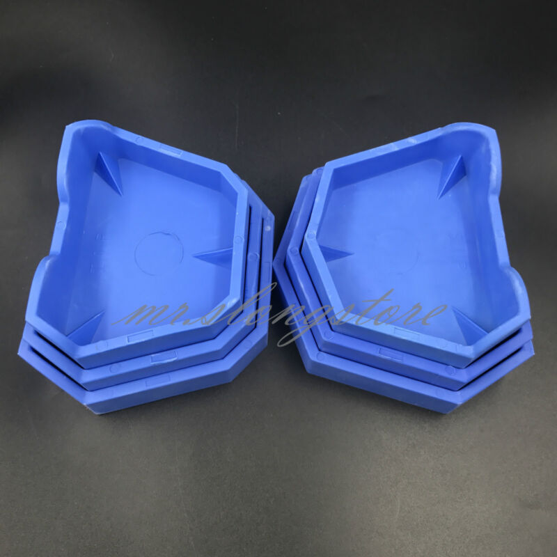 6Pc Rubber Dental Lab Plaster Model Former Base Molds Tool Tray Blue Silicone CA