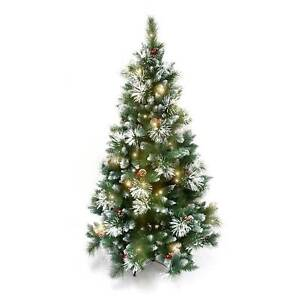 New 180cm Frosted White Snow Christmas Tree Pick Up