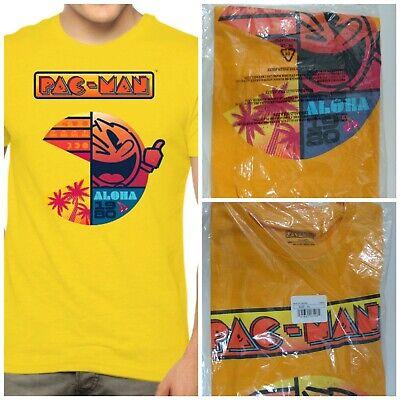 New Pac-Man Aloha 1980 Classic Arcade Game Mens T-Shirt XL