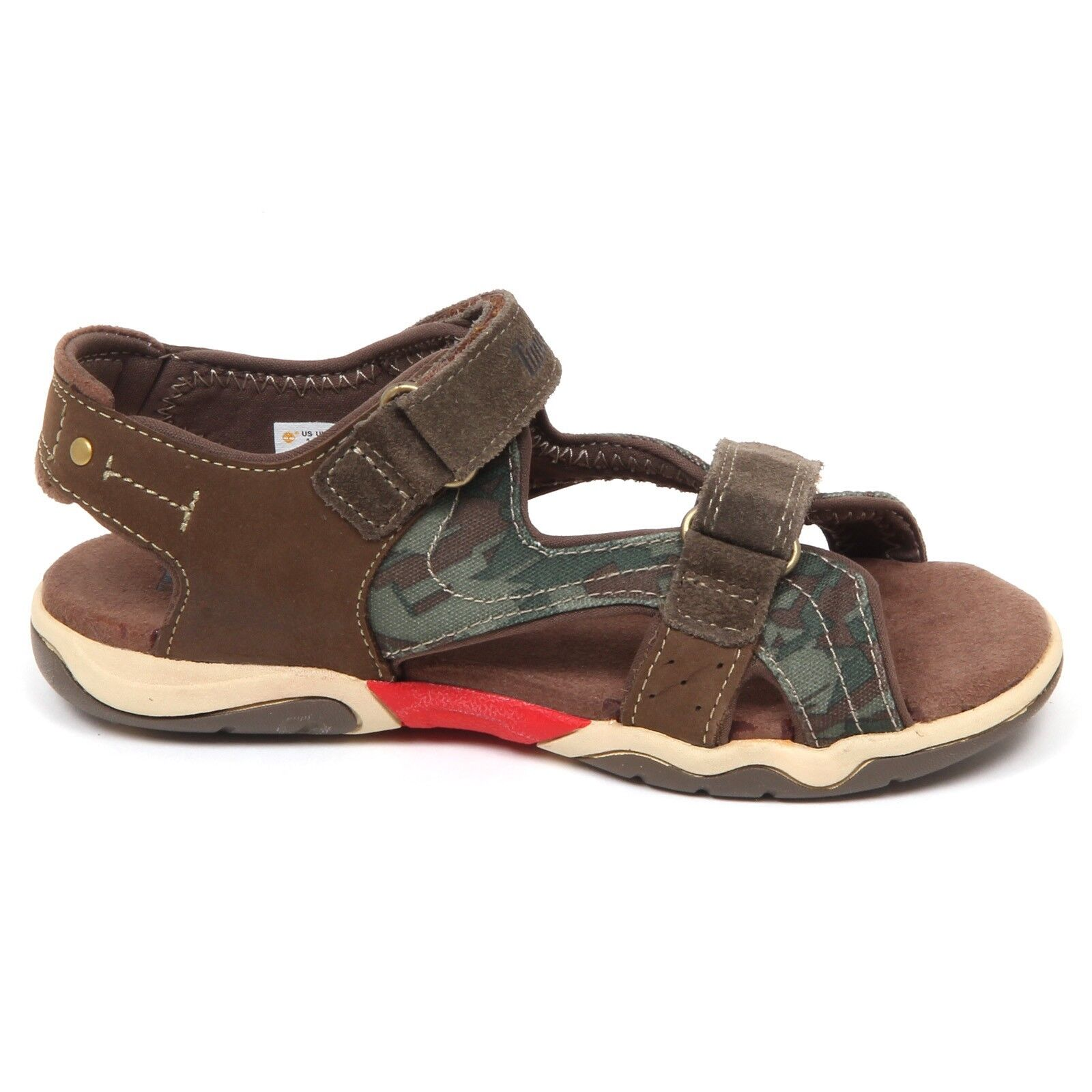 E6332 sandalo bimbo brown/green TIMBERLAND scarpe shoe baby kid boy 1