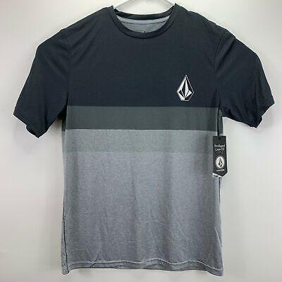 Volcom Mens Lido Heathered Block Rashguard T-Shirt Gray M Volcom Mens Block