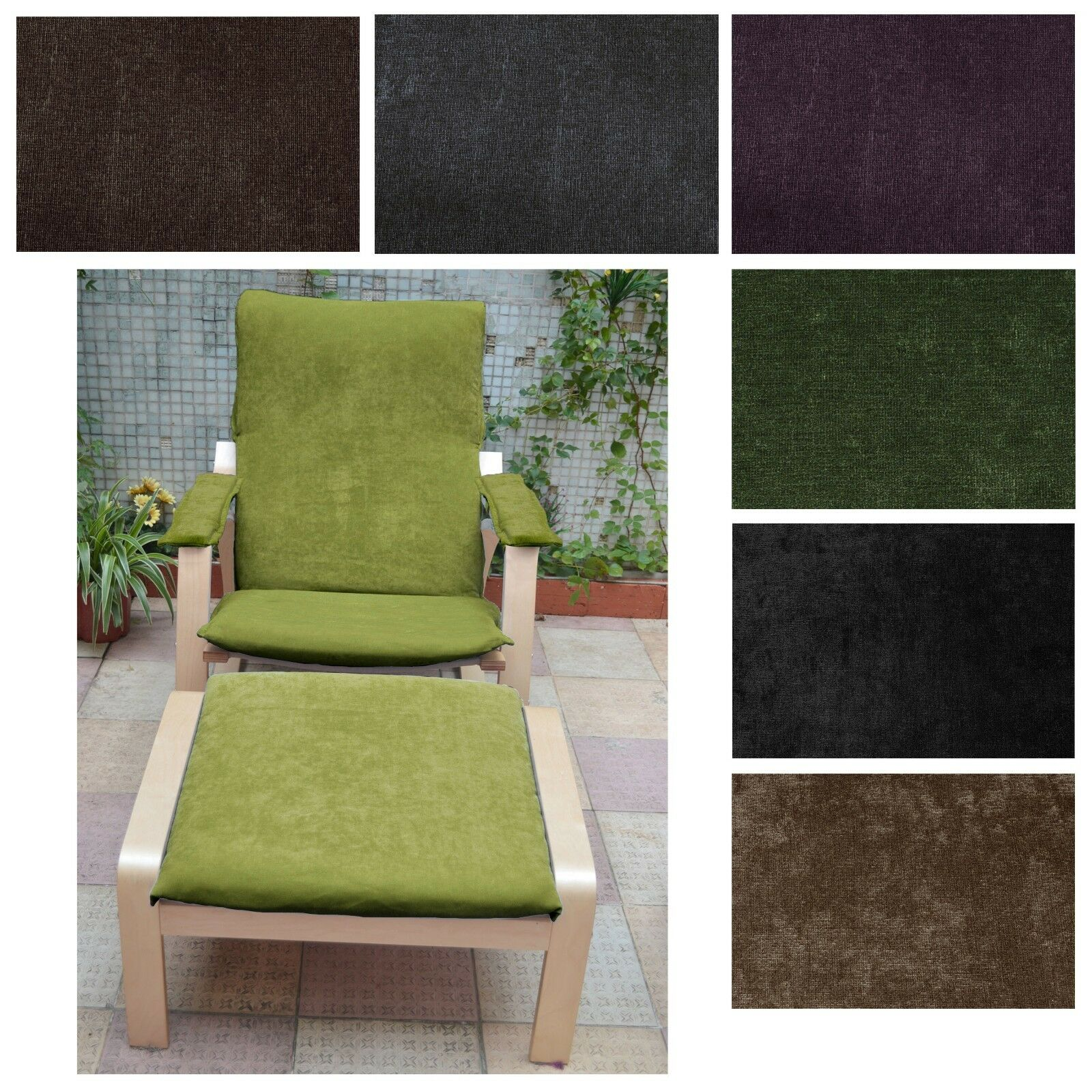 NEW DESIGN  NO ZIPPER-Tailor Made For IKEA Poang Arm Chair