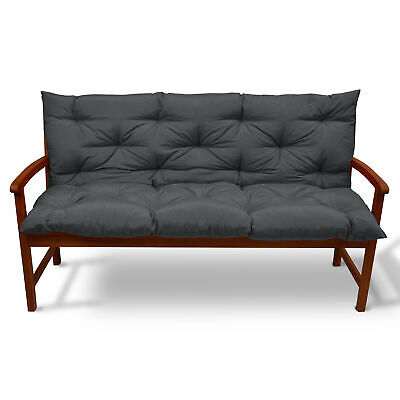 Beautissu Garden Bench Pad Cushion 120 x 50 x 50 cm 2 Seater Anthracite