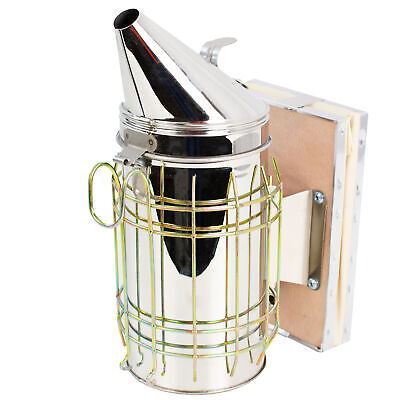 Vivo Large Bee Hive Smoker Stainless Steel Wheat Shield Beekeeping Equipment