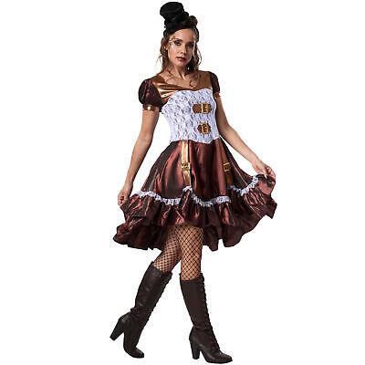 Womens Costume Steampunk Lady Victorian Gothic Sci Fi Fancy Dress Carnival