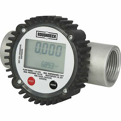 Roughneck Digital Fuel Meter 130 Gpm 1in. Inletoutlet
