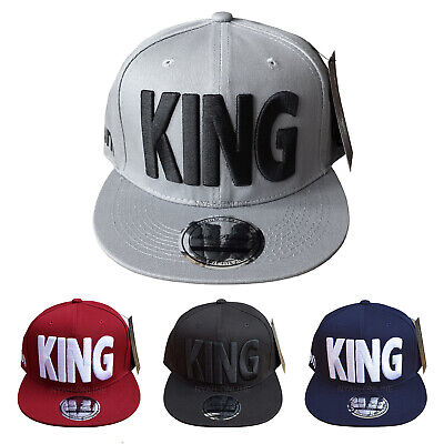NEW KING SNAPBACK CAP BLACK BASEBALL HIP HOP MONEY ERA FITTED FLAT PEAK HAT