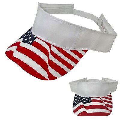 Amerikanische Flagge Sterne 100% Baumwolle Visiere Sonnenhut (Patriotische Sterne)