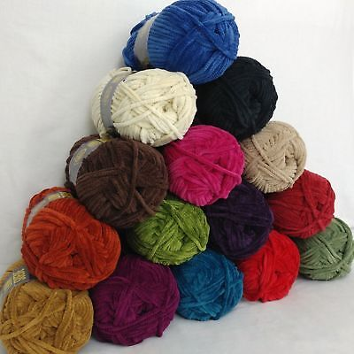 Chenille Suede - Lion Brand Suede Yarn 20 Colors Prints Bulky Weight NOS Chenille Type You Pick