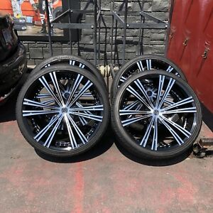 """26"""" RIMS AND TIRES - DEMO - ESCALADES TAHOES PICKUPS"""