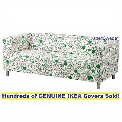 Ikea Klippan Loveseat  2 Seat Sofa  Cover Slipcover Marrehill Pink Green Sealed