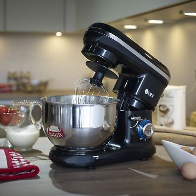 Dihl 1260W Black 6 Speed Food Electric Stand Mixer 5.5L Bowl, Dough Hook