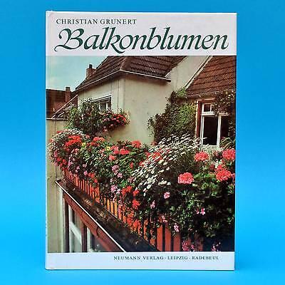 DDR Fachbuch | Balkonblumen | Christian Grunert 1979