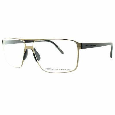 Porsche Design P8307 C Brown Gold Rectangular Men Optical Frames (New Design Glasses Frames)