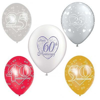 25th Silver Wedding Anniversary Printed Balloons Party Decorations 11
