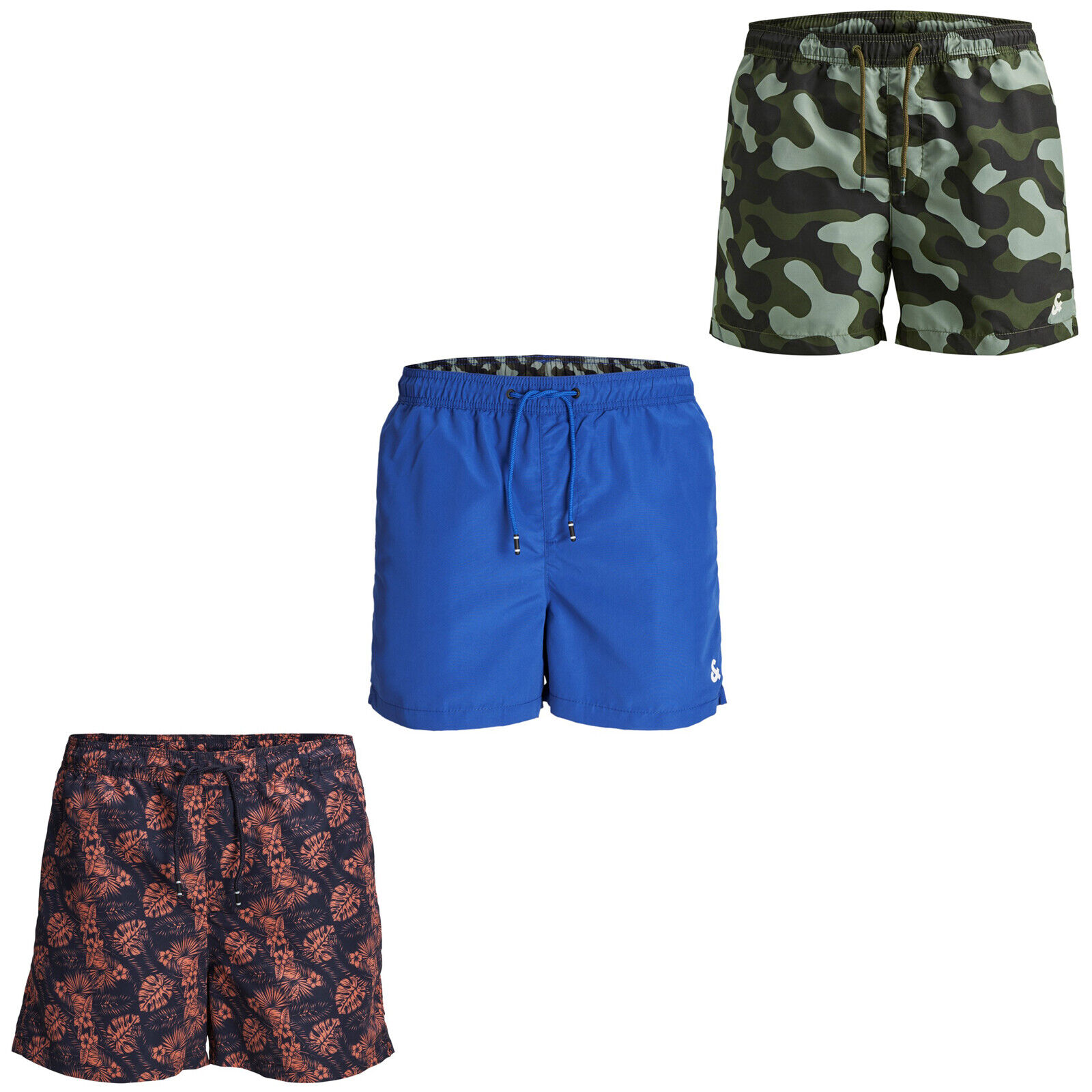 Jack /& Jones Mens Swim Shorts Quick Dry Drawstring Elasticated Trunks Swimwear