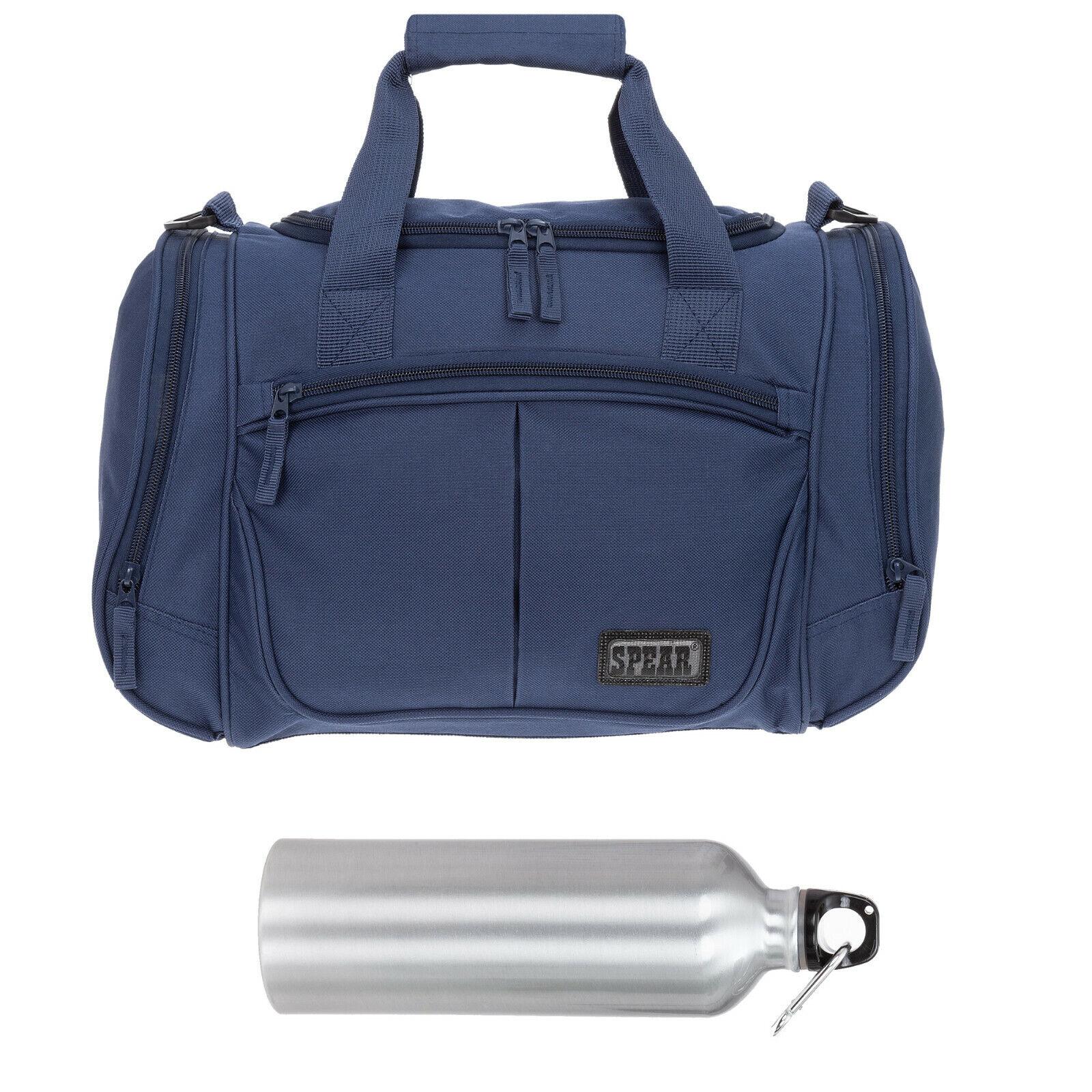 Sporttasche klein 42 cm Spear Sport Fitness Tasche Kindertasche BLAU +Aluflasche