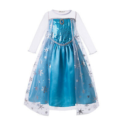 Toddler Frozen Elsa Princess Fancy Dress Kids Girl Cosplay Costume Party Outfits - Frozen Costume Toddler