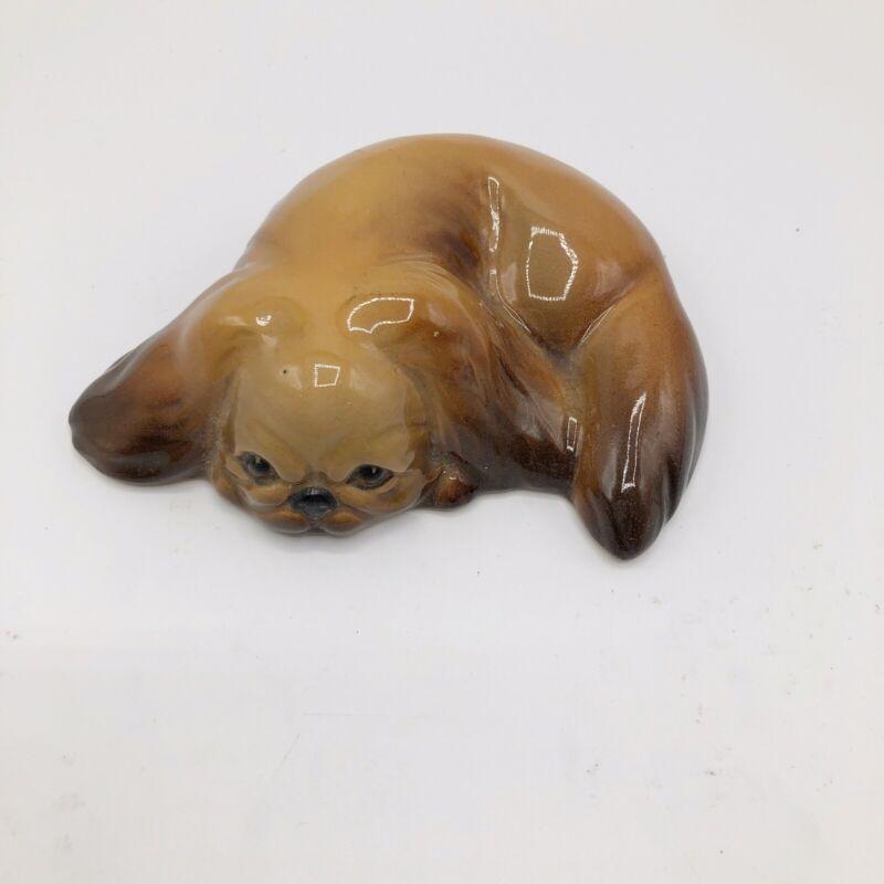 W R Midwinter Burslem England Albion Dog Figurine Brown Figure Pekinese Brown