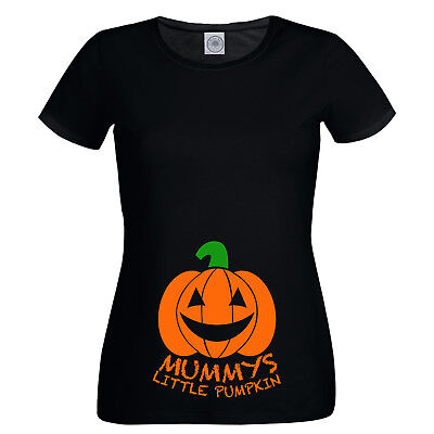 Momia Little Calabaza Camiseta Mujer Divertido Halloween Premamá Embarazo Bebés
