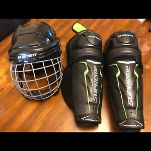Hockey equipment for sale.
