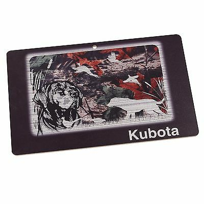 "KUBOTA EQUIPMENT *HUNTING DOG* 17""x11"" WOOD SIGN *NEW!*"