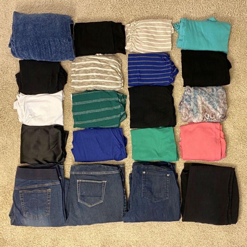 *HUGE* 20 Piece Large Lot Motherhood Maternity Clothes Tops Shirts Pants Jeans