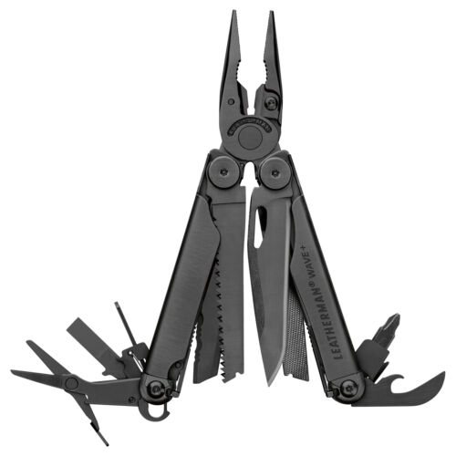LEATHERMAN - Wave Plus Multitool with Premium Replaceable Wire Cutters Black