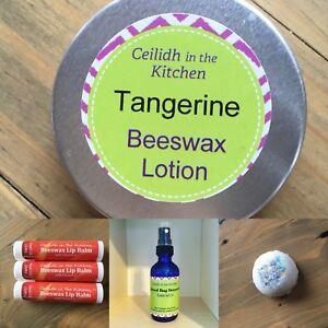 Natural beeswax lotion, lip balm