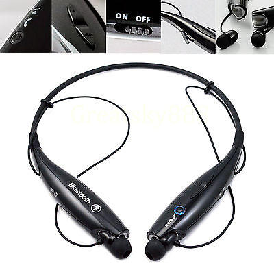 Black Sports Stereo Bluetooth Headset For Apple iPhone 4 4S 5S 6 Plus HTC Nokia