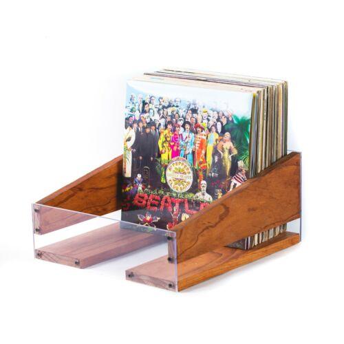 Mahogany Vinyl Record Holder Storage Crate LP Record Albums NO SLIP Texture