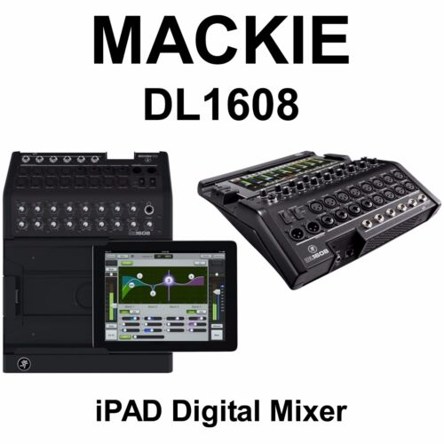Mackie DL1608 Digital Live Sound 16Ch Audio Mixer Lightning Plug & iOS Control