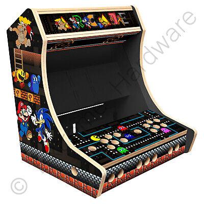 "BitCade 2 Player 19"" Bartop Arcade Cabinet Machine with Mixed Arcade Artwork"