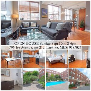 Open house TODAY in Lachine - 2 bdr condo