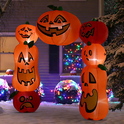 9Ft Halloween Inflatable Pumpkin Archway Jack O Lantern Door Alfresco Decorations