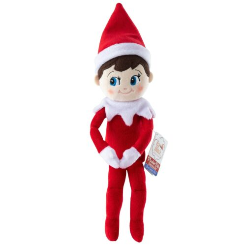 Plushee Pals Snuggler Boy Elf Shelf on Plush Stuffed Doll Christmas Decor Gift