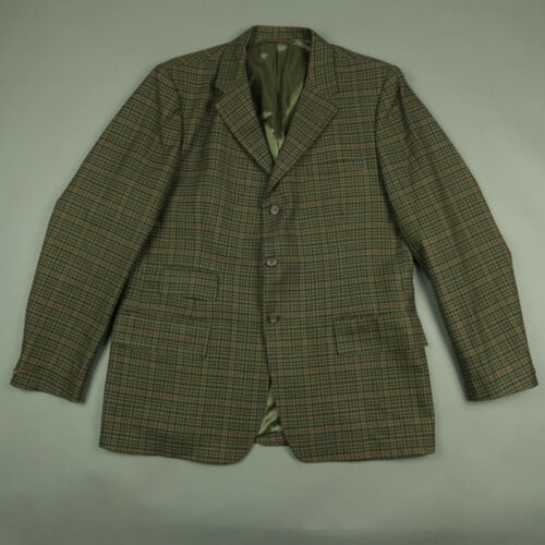 Dunn & Co Gun Check Tweed Hacking Jacket Size 44R