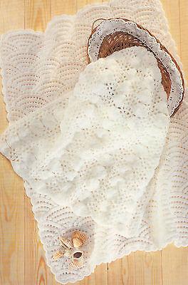 Scallops & Sea Shell  Baby Blankets DK  Knitting Pattern