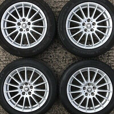 "Set 4 Genuine Jaguar XE 17"" Alloy Wheels Tyres 205 55 Libra 15 spoke X-Type S"
