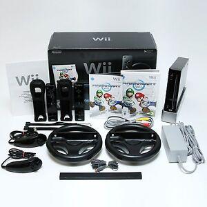 Nintendo-Wii-Konsolen-Original-Controller-amp-Spiele-Mario-Kart-Sports-Fit