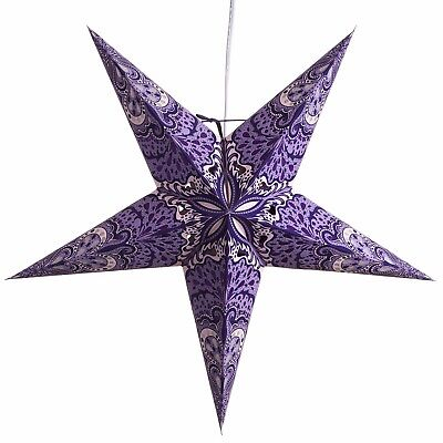 Beautiful Multi Colored Paper Star Lanterns with 12 Foot Power Cord Included - Paper Star Lanterns