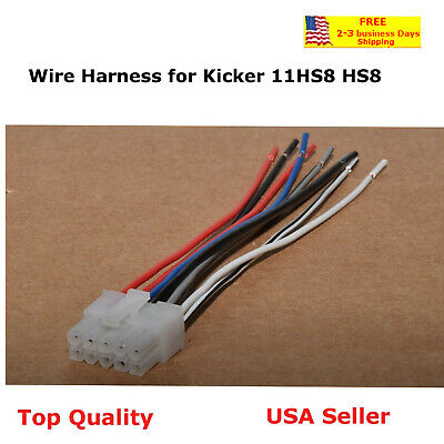 Wire Harness for Kicker Bass Station Powered Subwoofer Hideaway Model 11HS8 HS8
