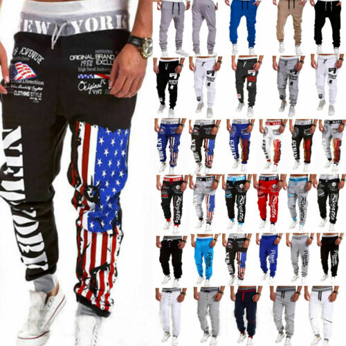 Mens Casual Sweatpants Sports Baggy Jogger Harem Pants Runni