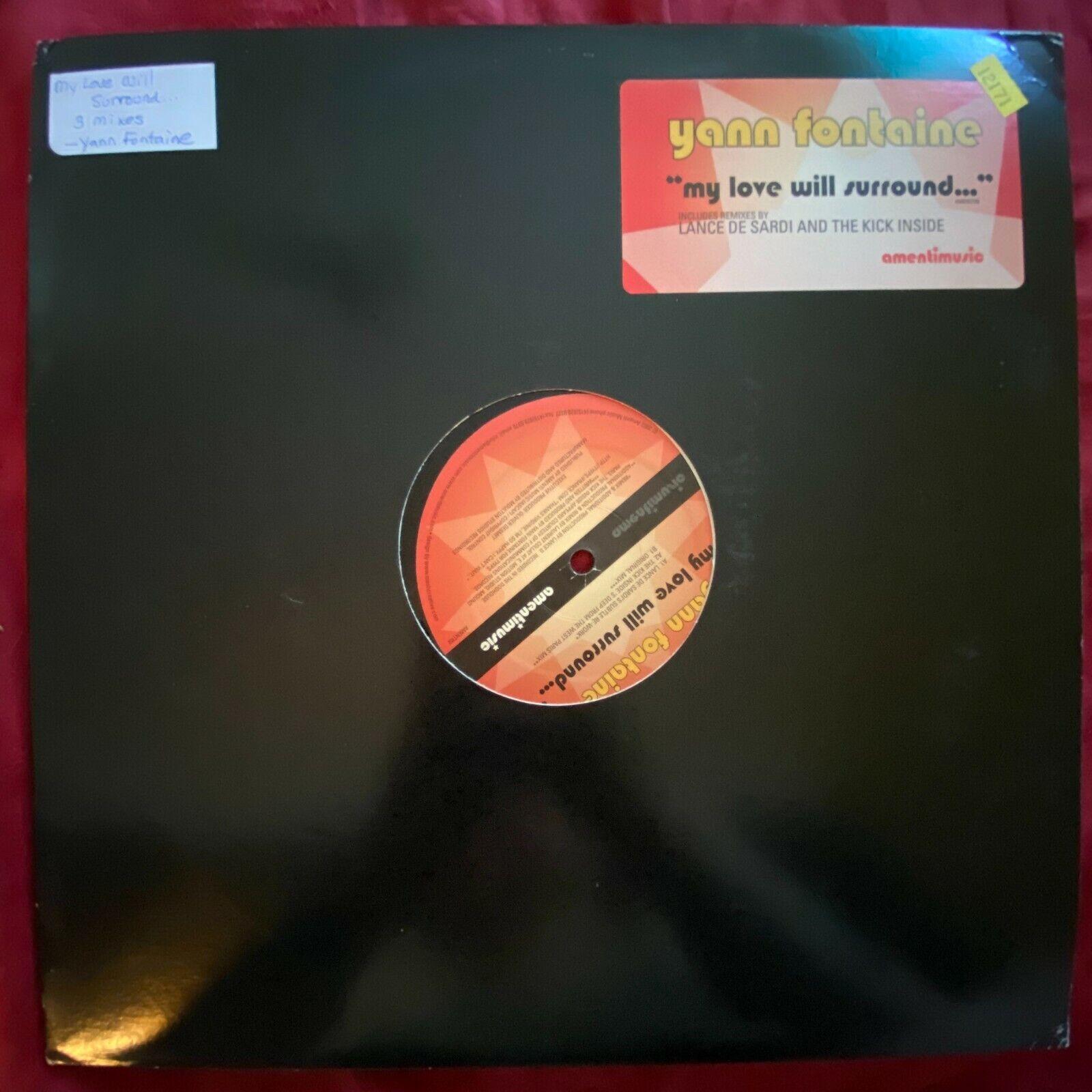 Yann Fontaine My Love Will Surround 2002 Amenti Music 12 Single Electro House - $8.76