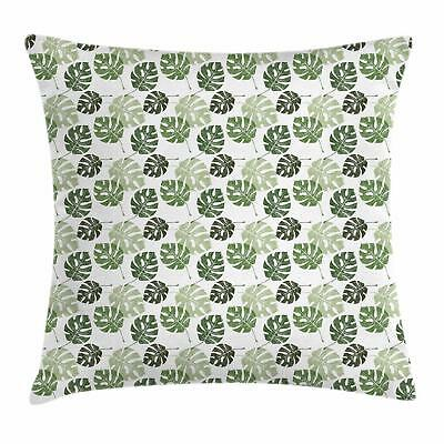 Abstract Leaves Throw Pillow Cases Cushion Covers Ambesonne