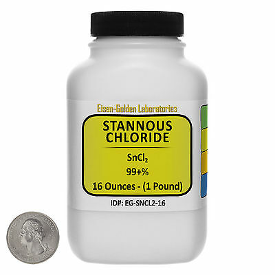 Stannous Chloride Sncl2 99 Acs Grade Powder 1 Lb In A Space-saver Bottle Usa