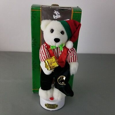 North Pole Productions Animated Standing Figure With Sound Christmas Bear Music