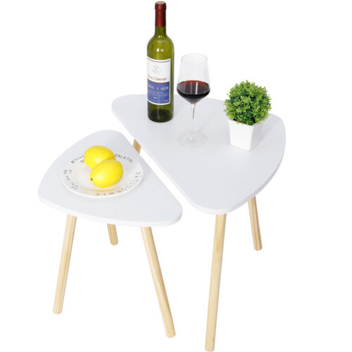 Modern Nesting coffee Dining table White color for Living Room Decor Side Table Furniture