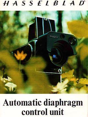 1975 HASSELBLAD CAMERA AUTOMATIC DIAPHRAGM CONTROL UNIT BROCHURE -HASSELBLAD